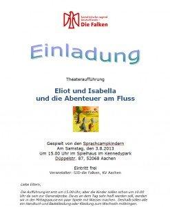 Einladung - Theateraufführung Sprachcamp 2013