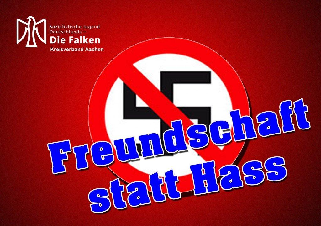 Flyer - Freundschaft statt Hass - Kundgebung 29. März 2014